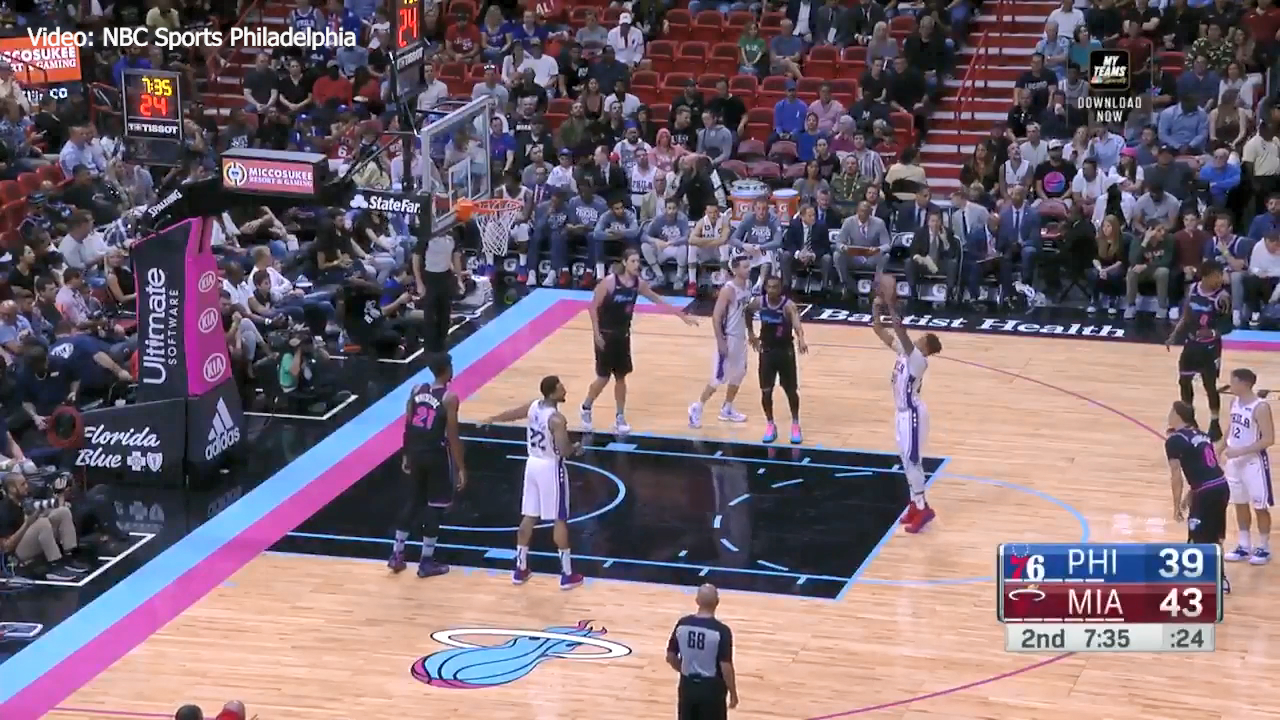 Fultz's ugly free throw