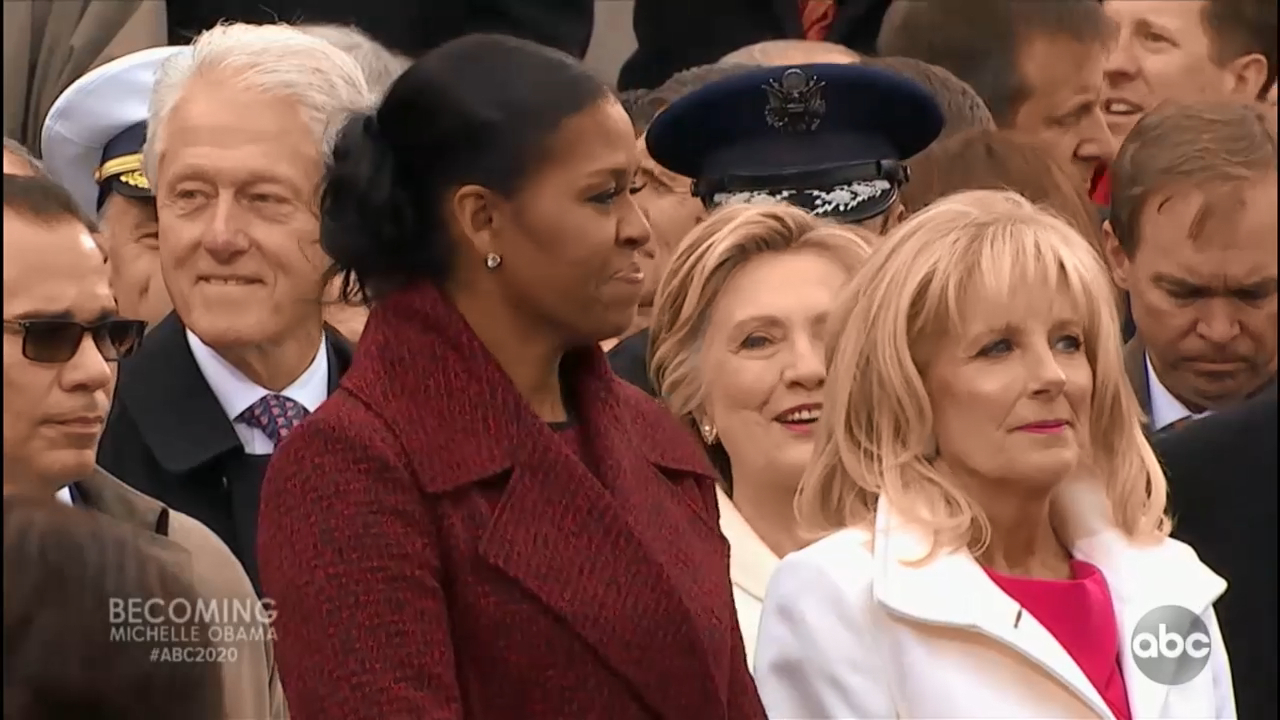 Michelle Obama says she stopped 'trying to smile' during 'misogynist' Trump's inauguration