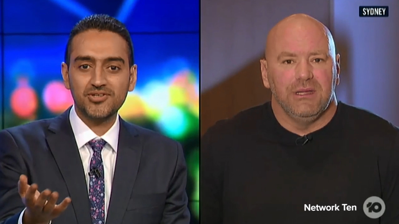 Waleed Aly clashes with Dana White