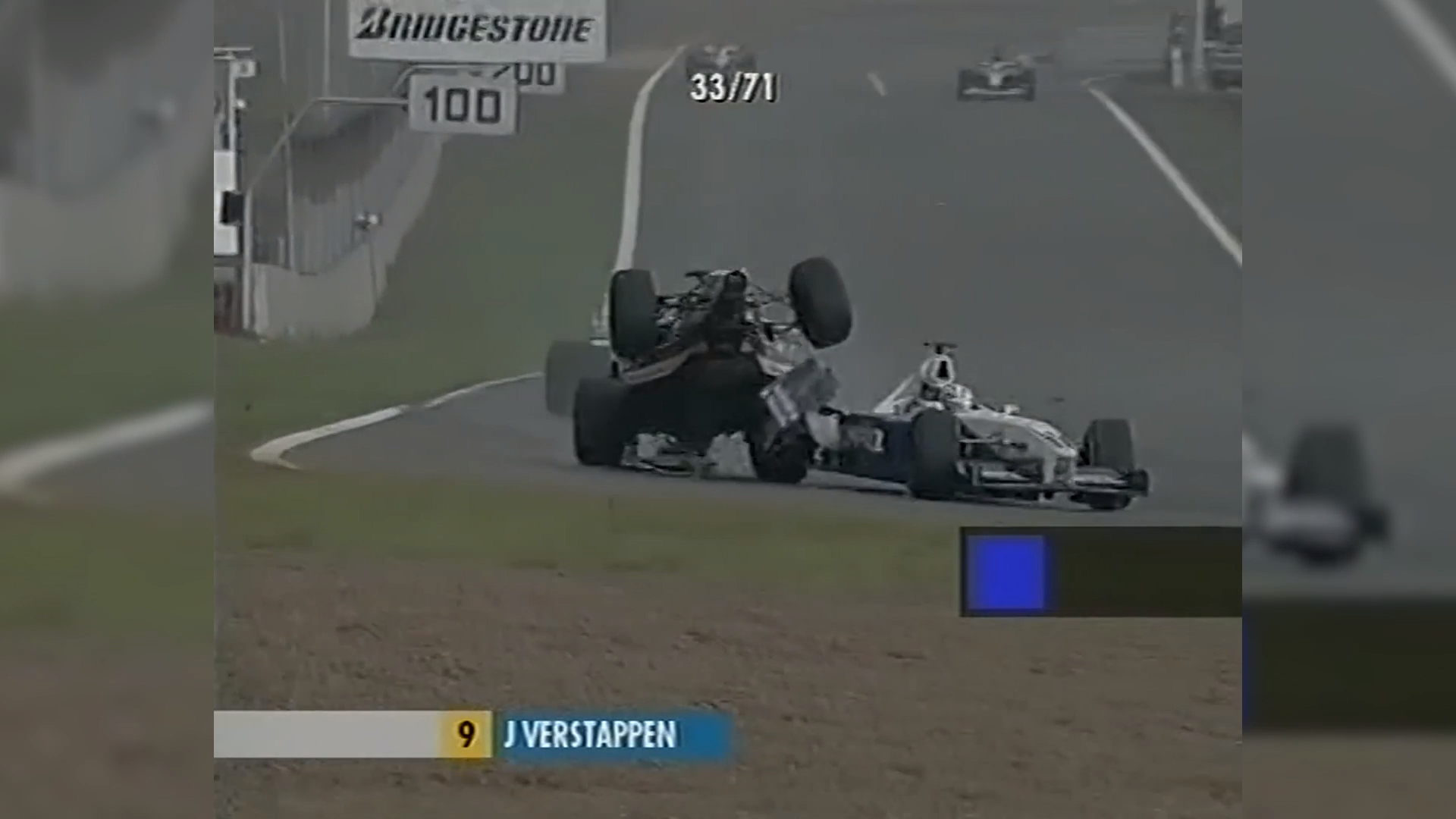 Verstappen Sr's similar F1 crash