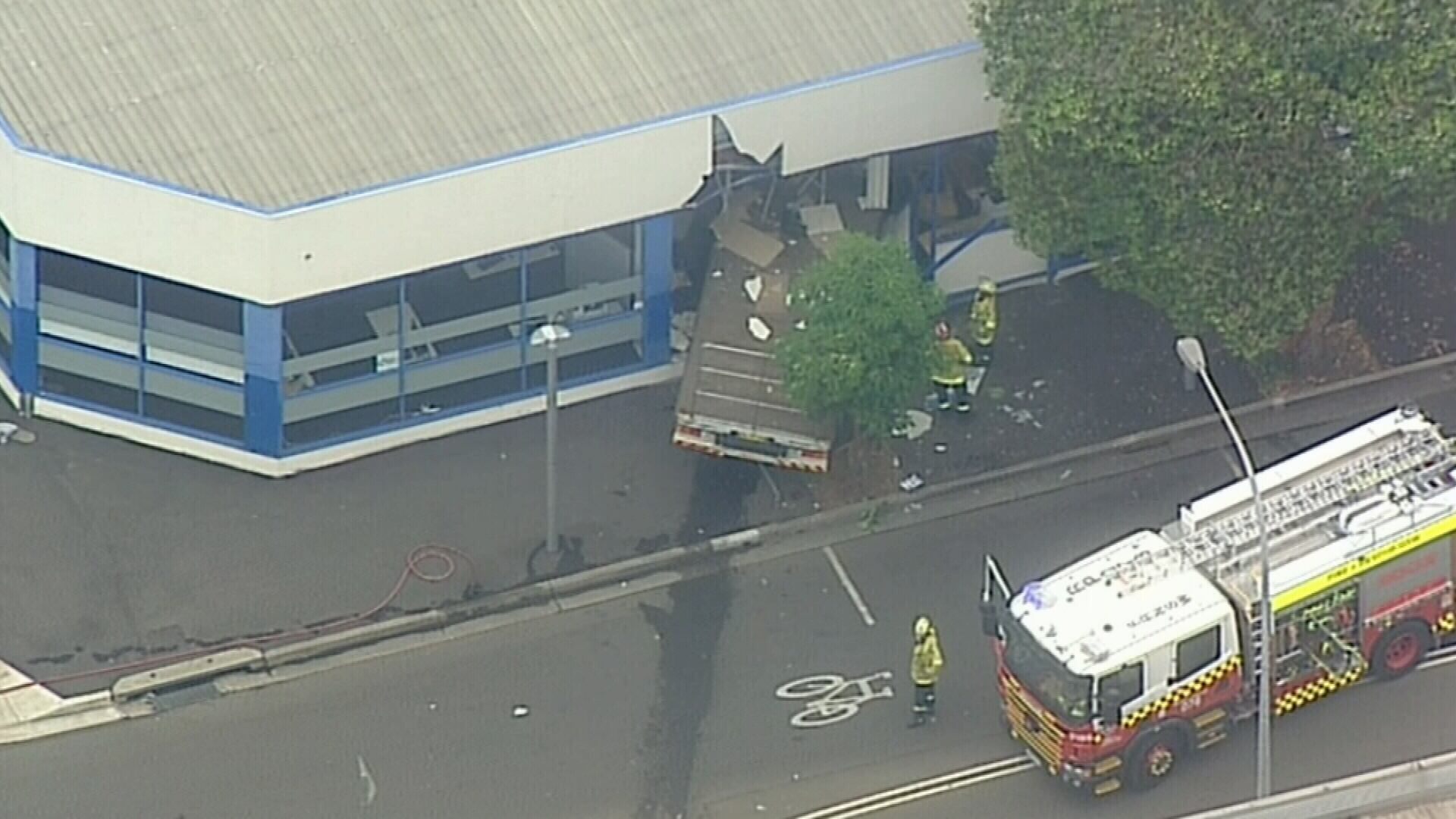 Truck crashes into building in Sydney's west