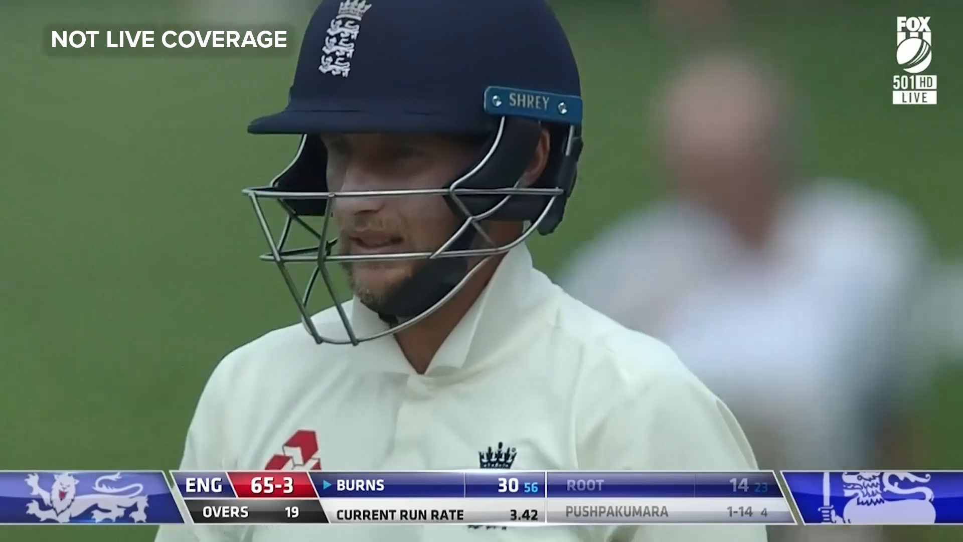 Root misses a straight one