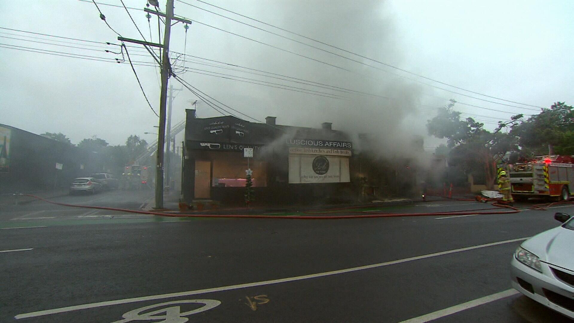 Popular Melbourne shop goes up in flames