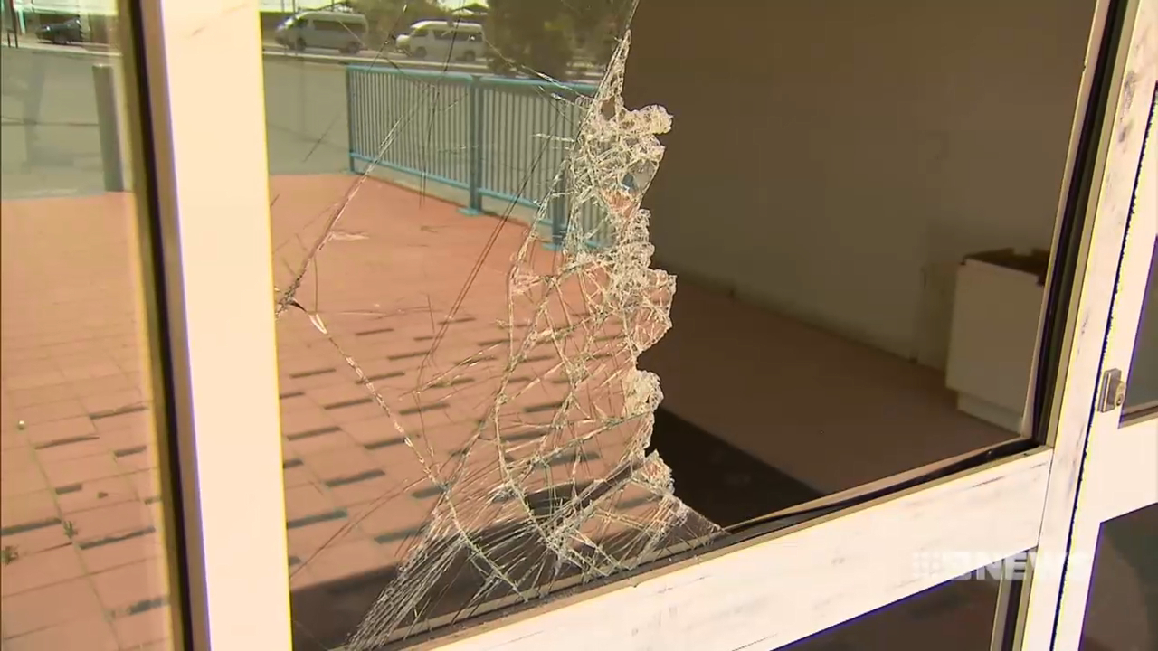 Vandals trash Perth school