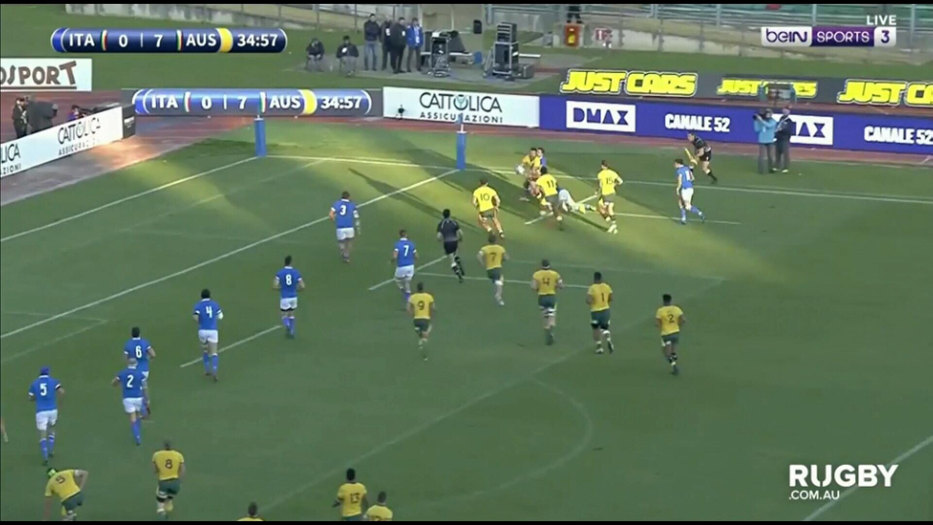 Wallabies beat Italy in Padua