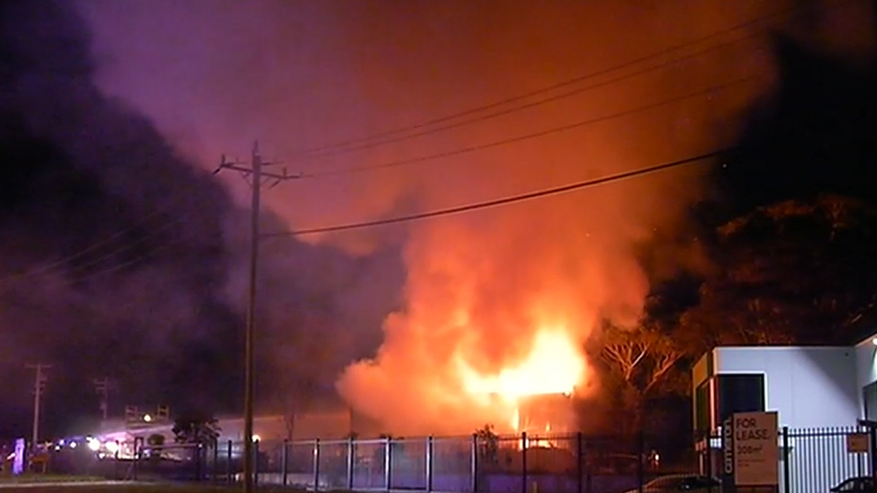 Canola oil factory in flames