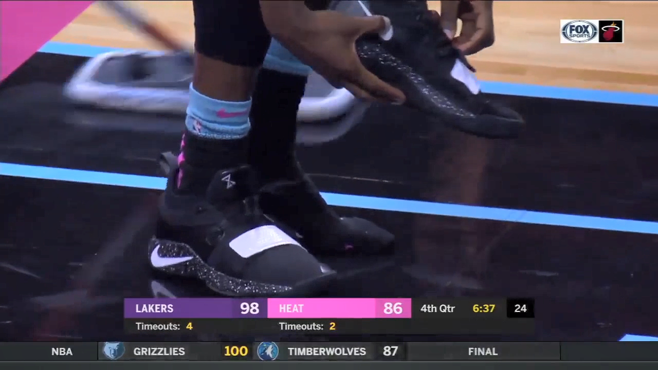 NBA fines Heat guard for throwing shoe