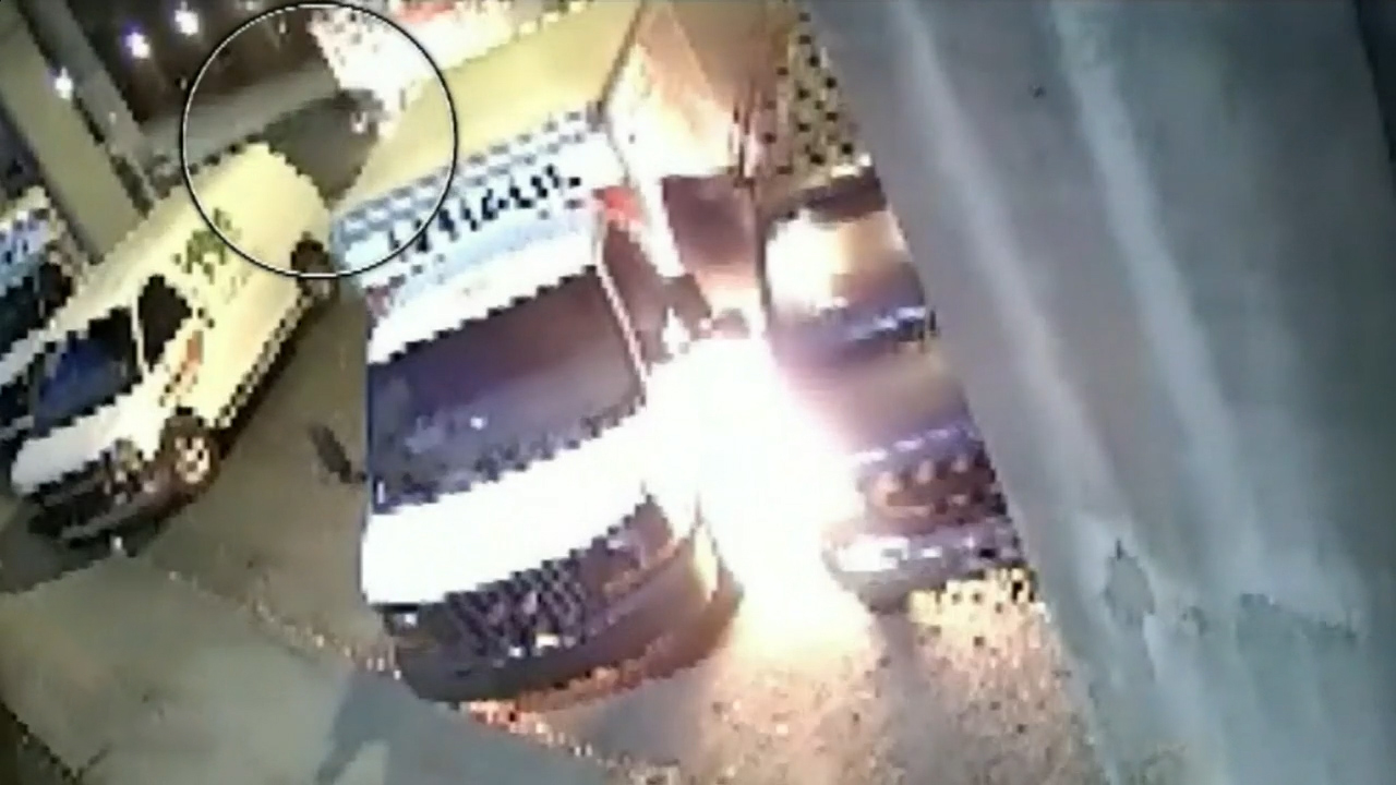 Petrol thief flees scene with his pants on fire
