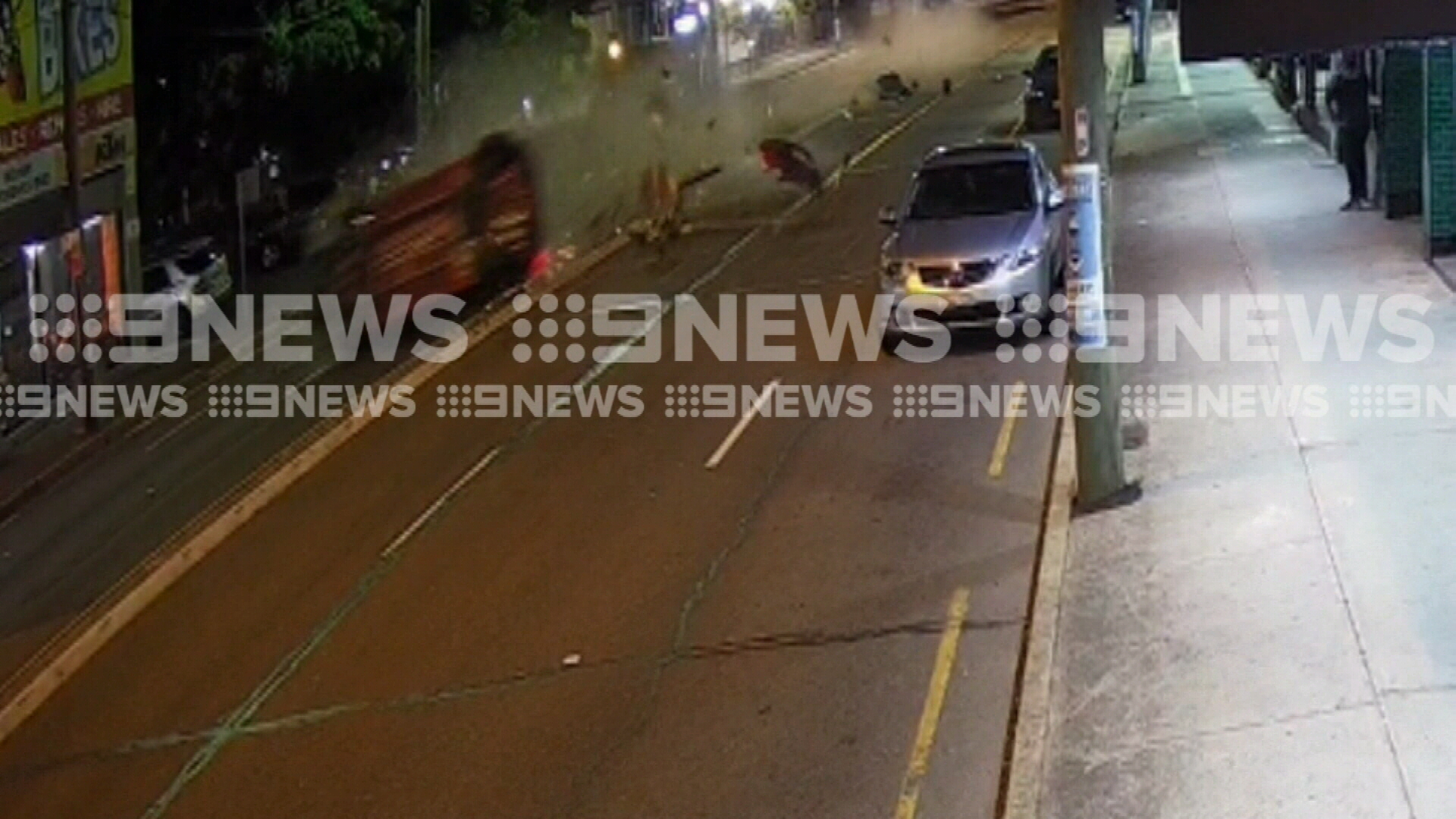 Shocking footage of highway crash in Sydney's south