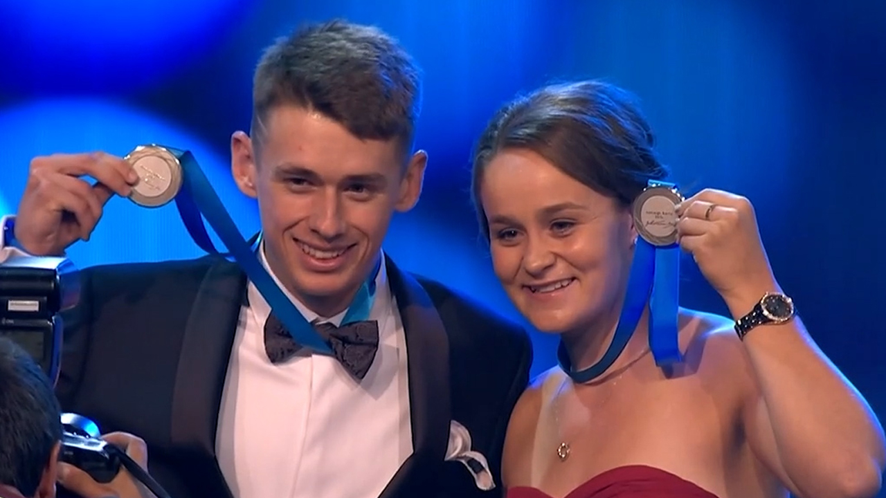 Barty, De Minaur share Newcombe Medal