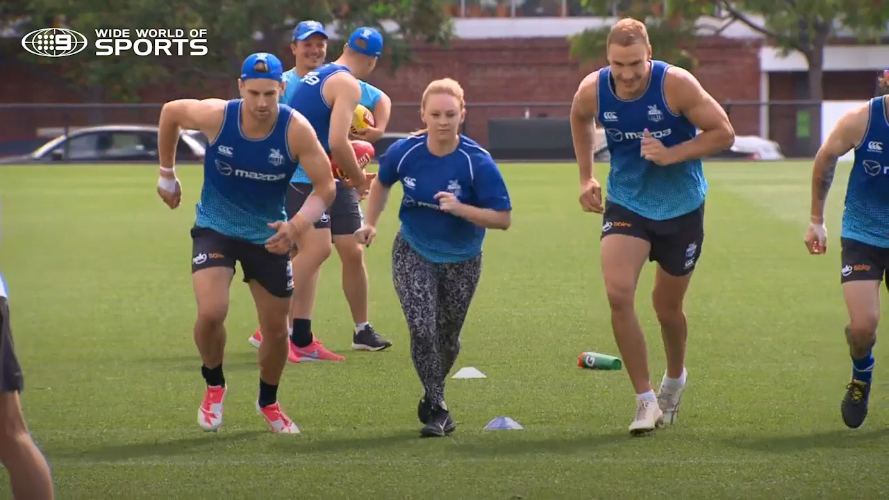 Reporter's gruelling AFL training session