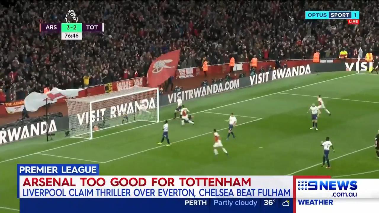 Arsenal stun Tottenham