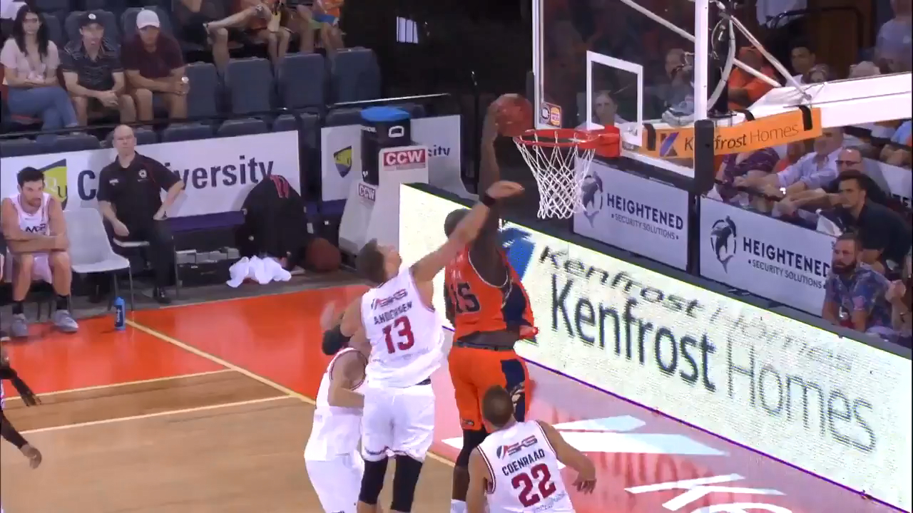 Jawai throws down vicious putback