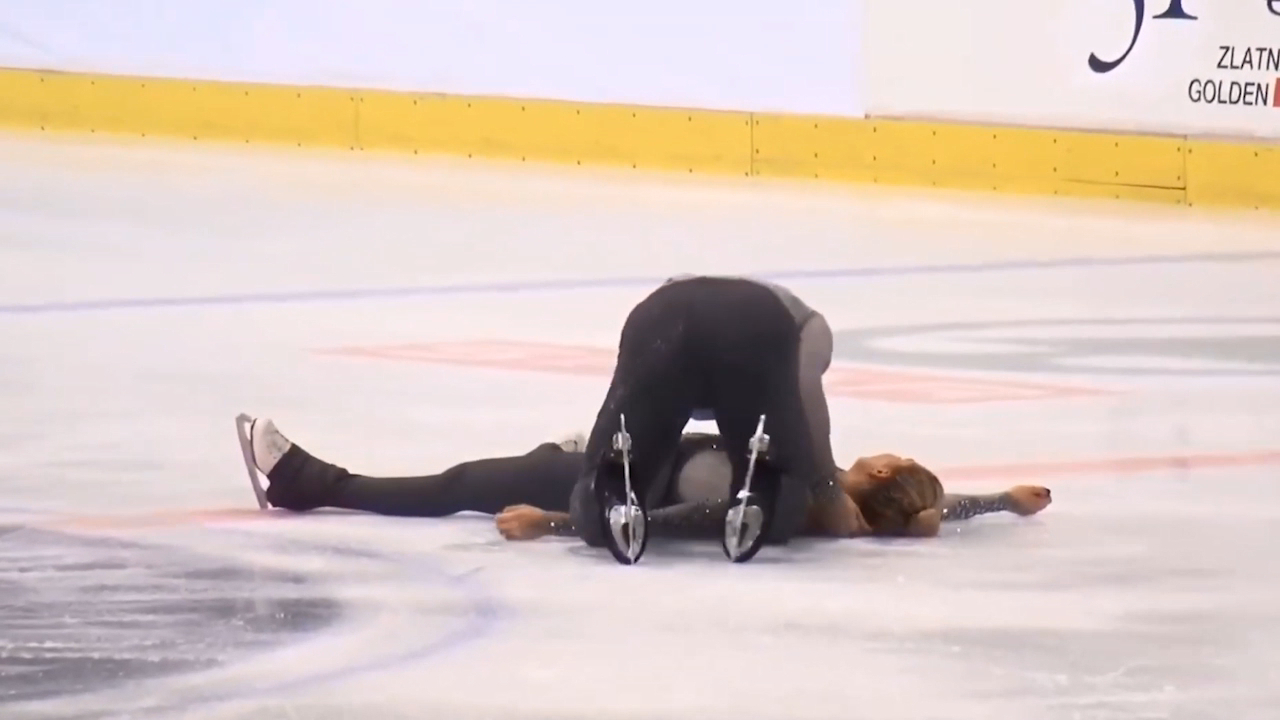 KO'd figure skater allowed to continue
