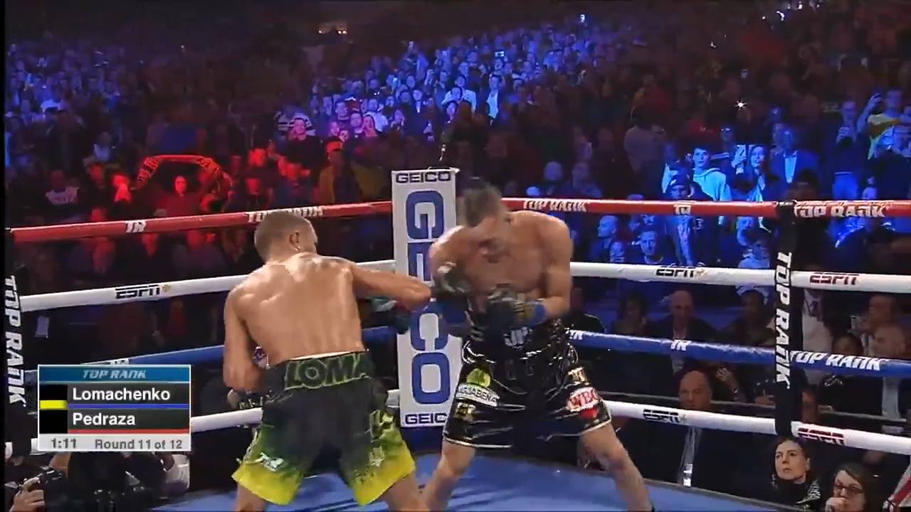 Lomachenko lands 42 power punches in 11th round