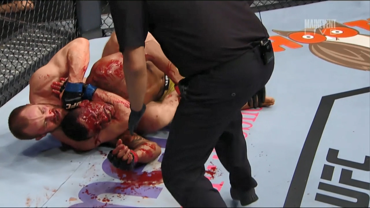 Nelson's bloodbath submission