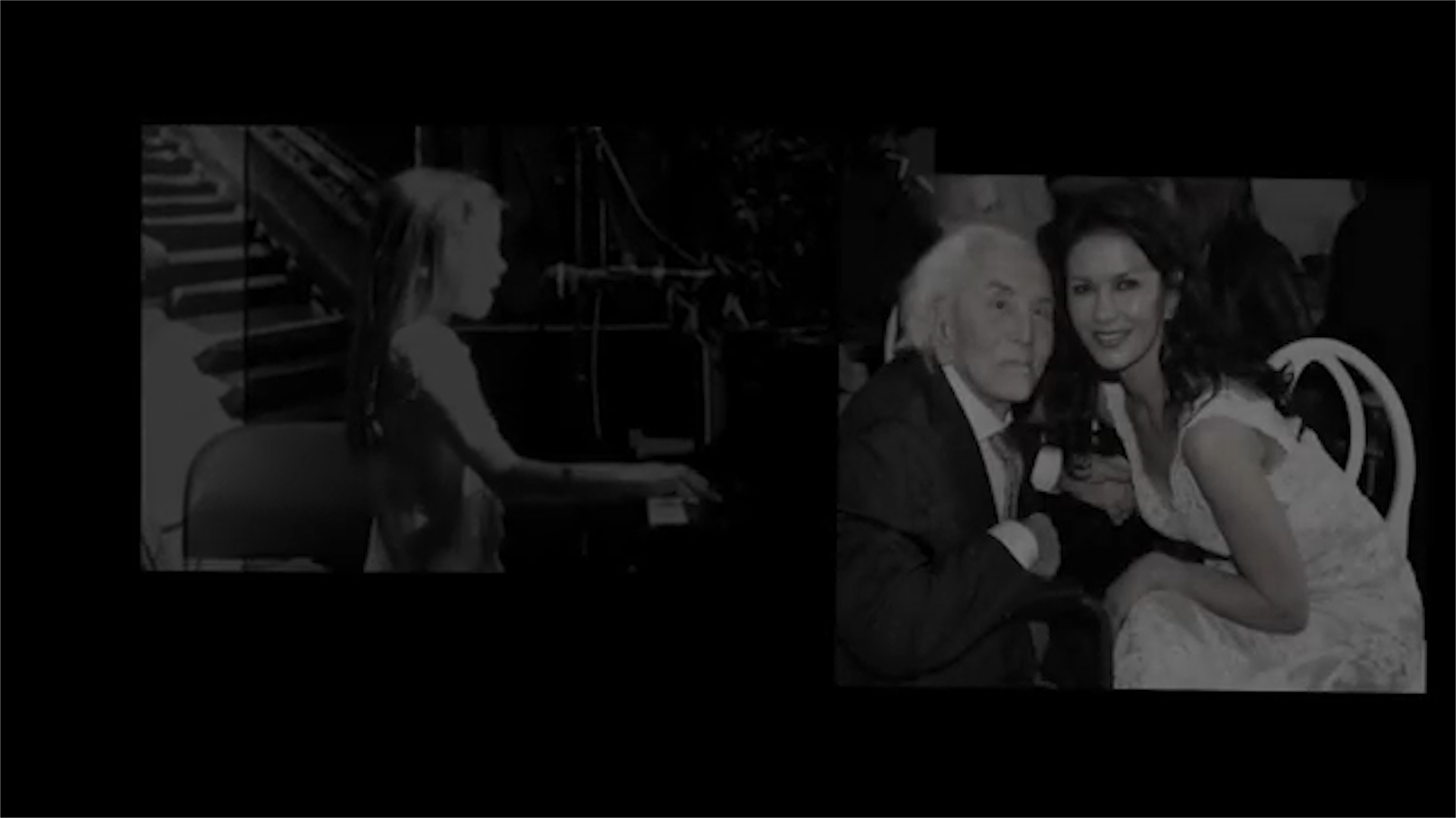 Carys Zeta Douglas sings 'Beautiful' for grandfather Kirk Douglas