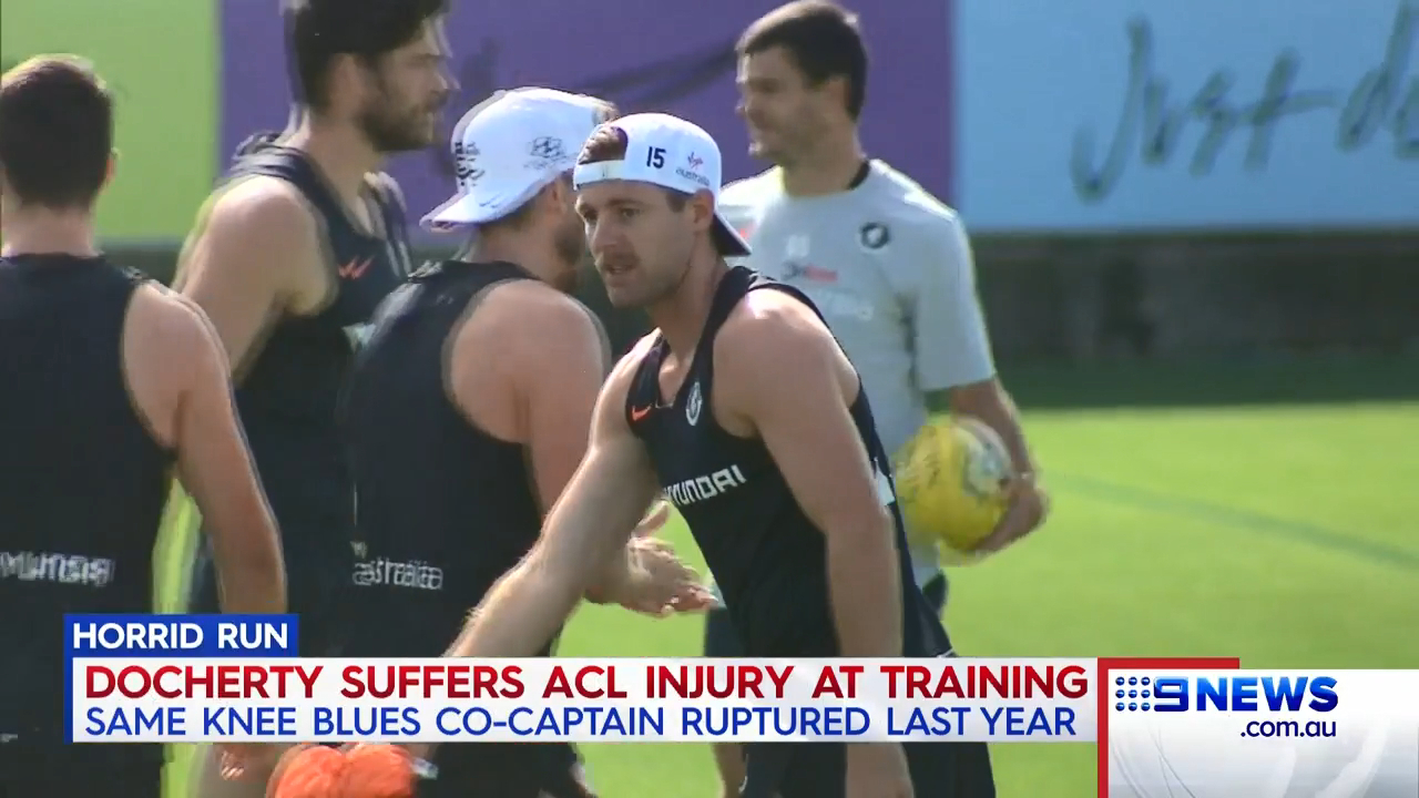 Docherty suffers second ACL tear