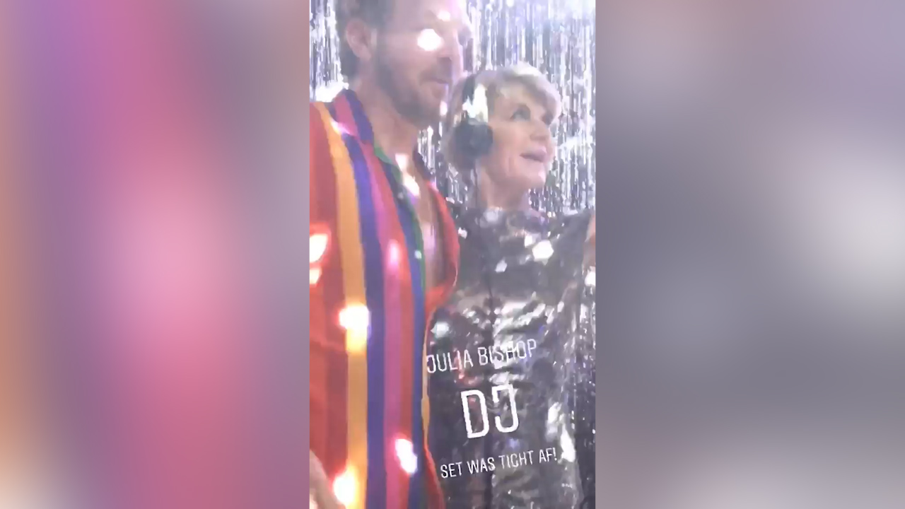 Karl Stefanovic and Jasmine Yarbrough's Studio 54-themed post-wedding party
