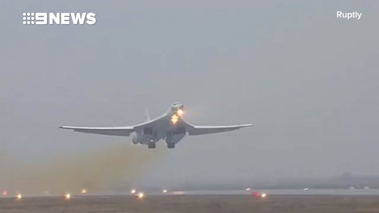 Russian Tupolev Tu-160 bombers target militant positions in Syria
