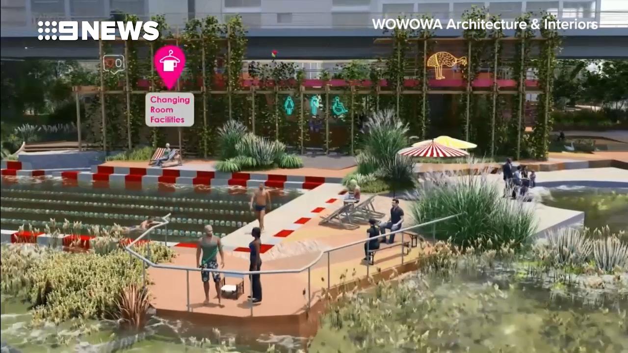 Riverside pool for Melbourne's Yarra