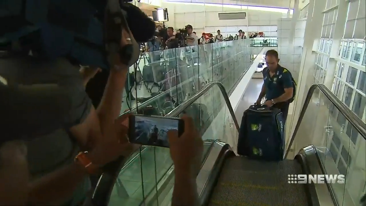 Aussies arrive in Perth