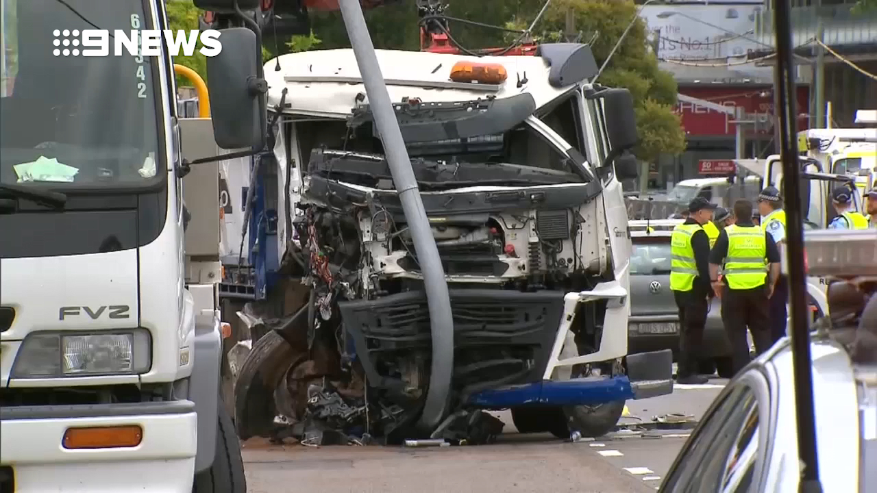 The aftermath of a horrific truck crash in Alexandria