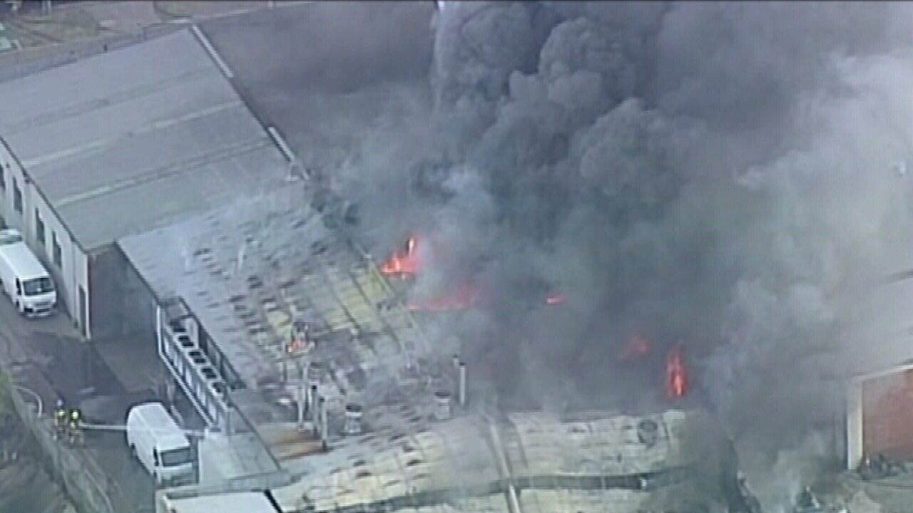 Firefighters battling blaze at food processing factory