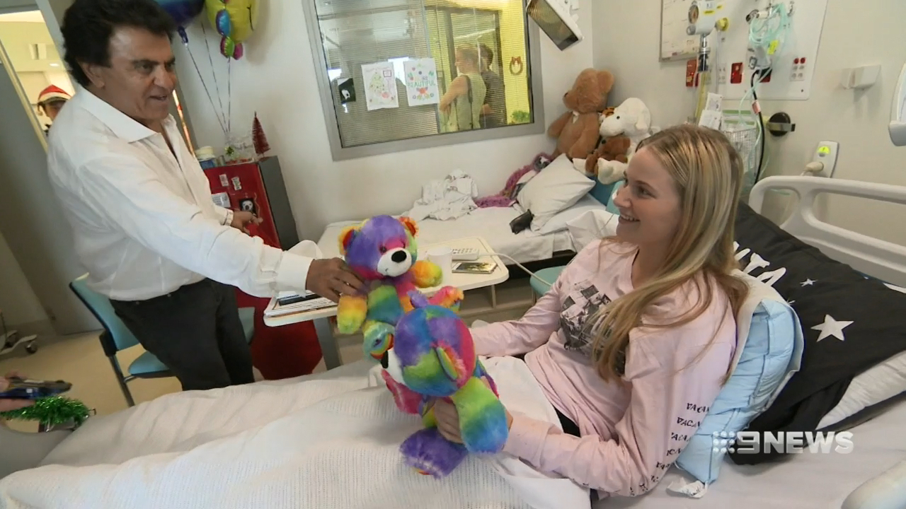 Police officers bring joy to sick children