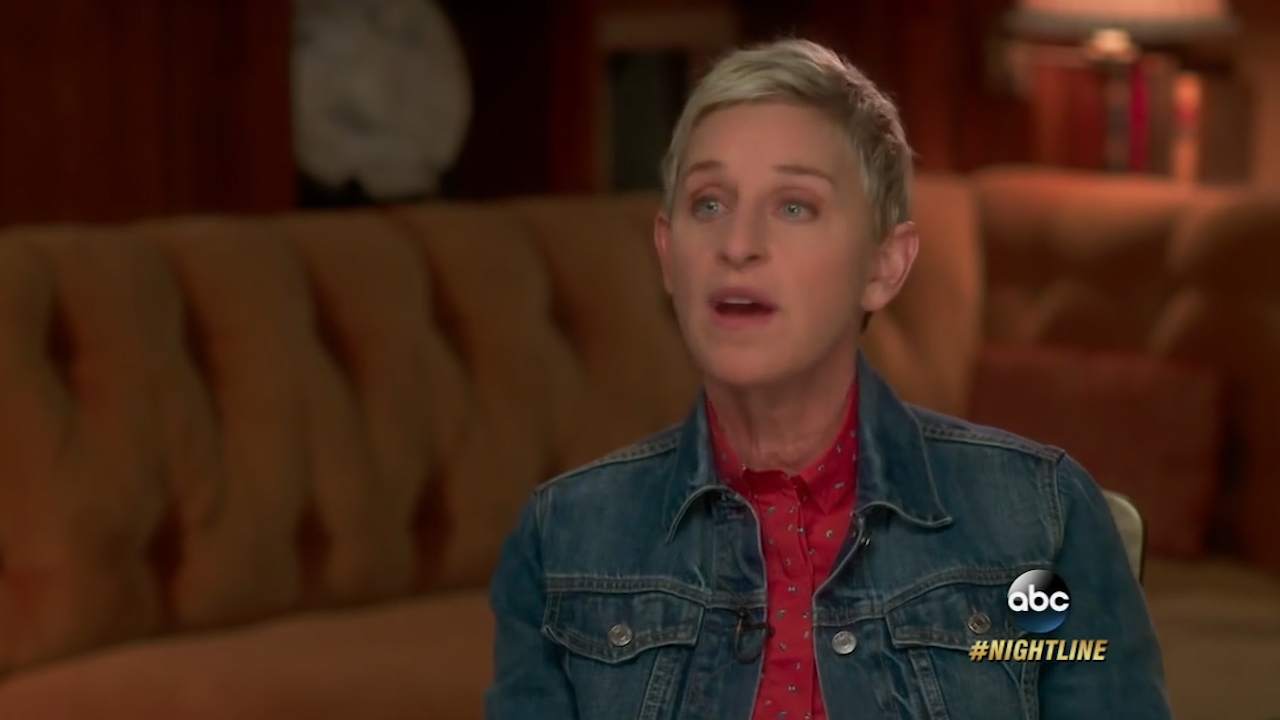 Ellen DeGeneres discusses her career struggles