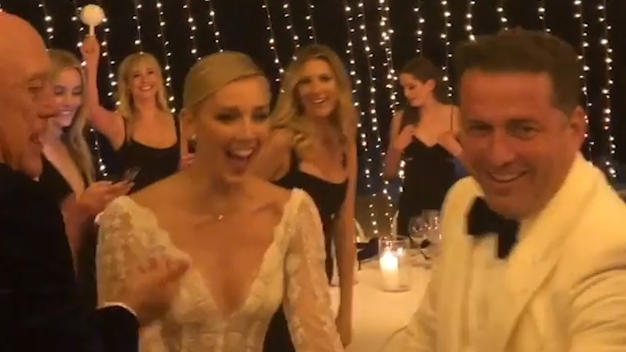 Inside Karl Stefanovic and Jasmine Yarbrough's wedding reception