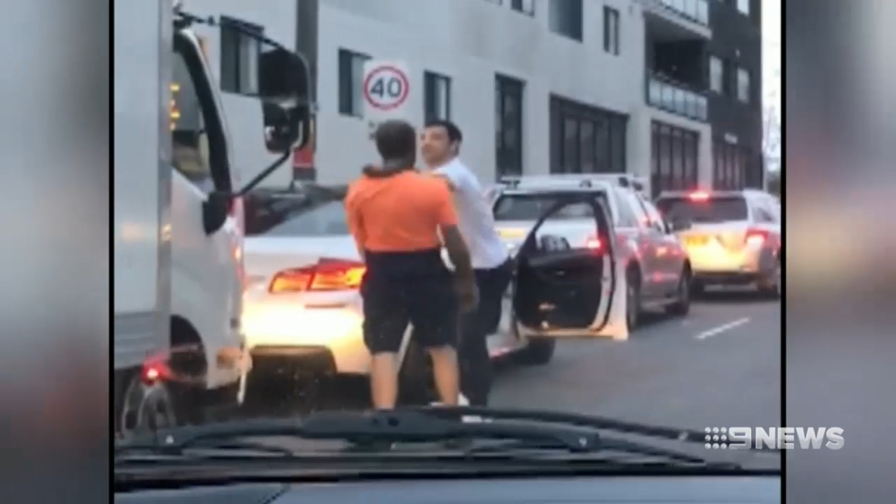 Sydney Drivers trade blows in road rage brawl