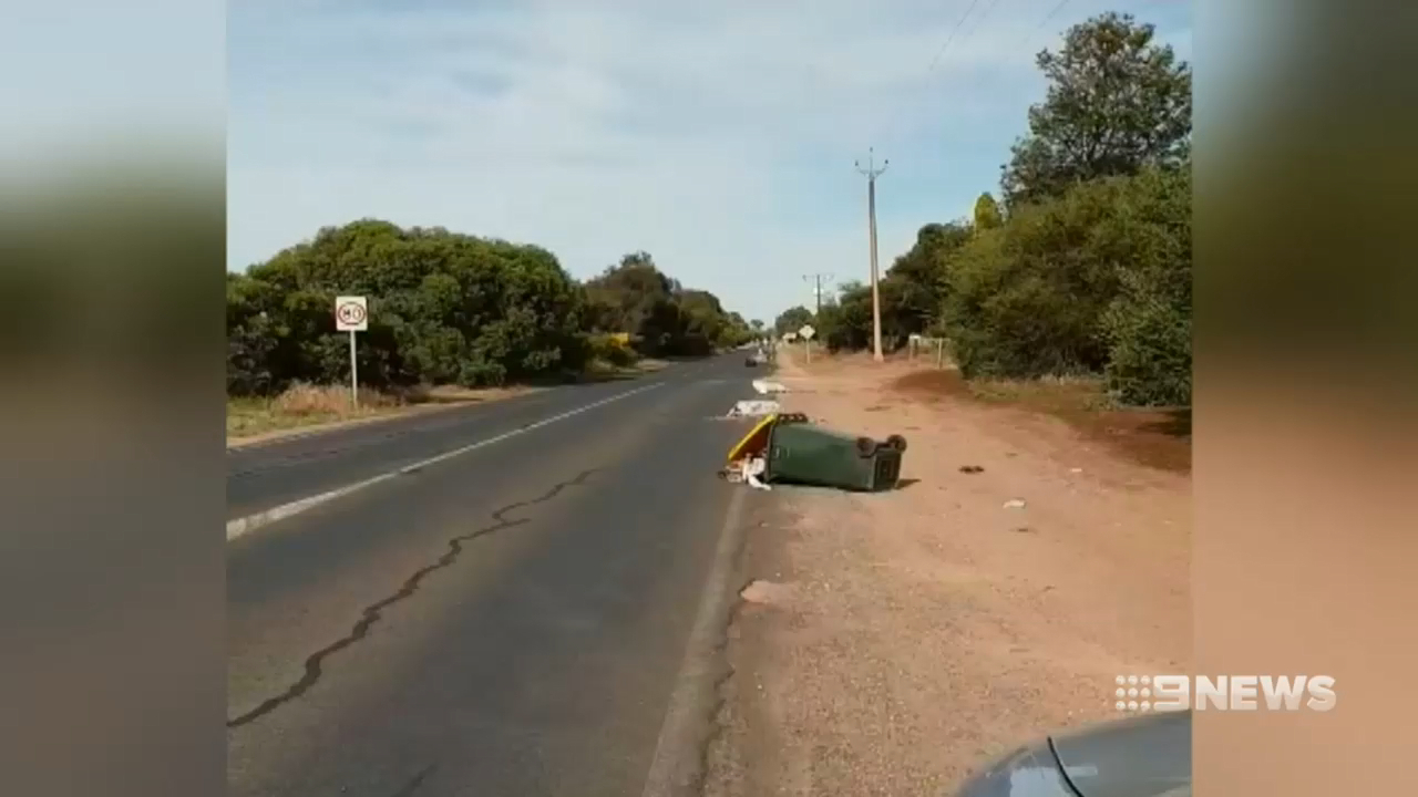 Truckloads of trash dumped in Adelaide