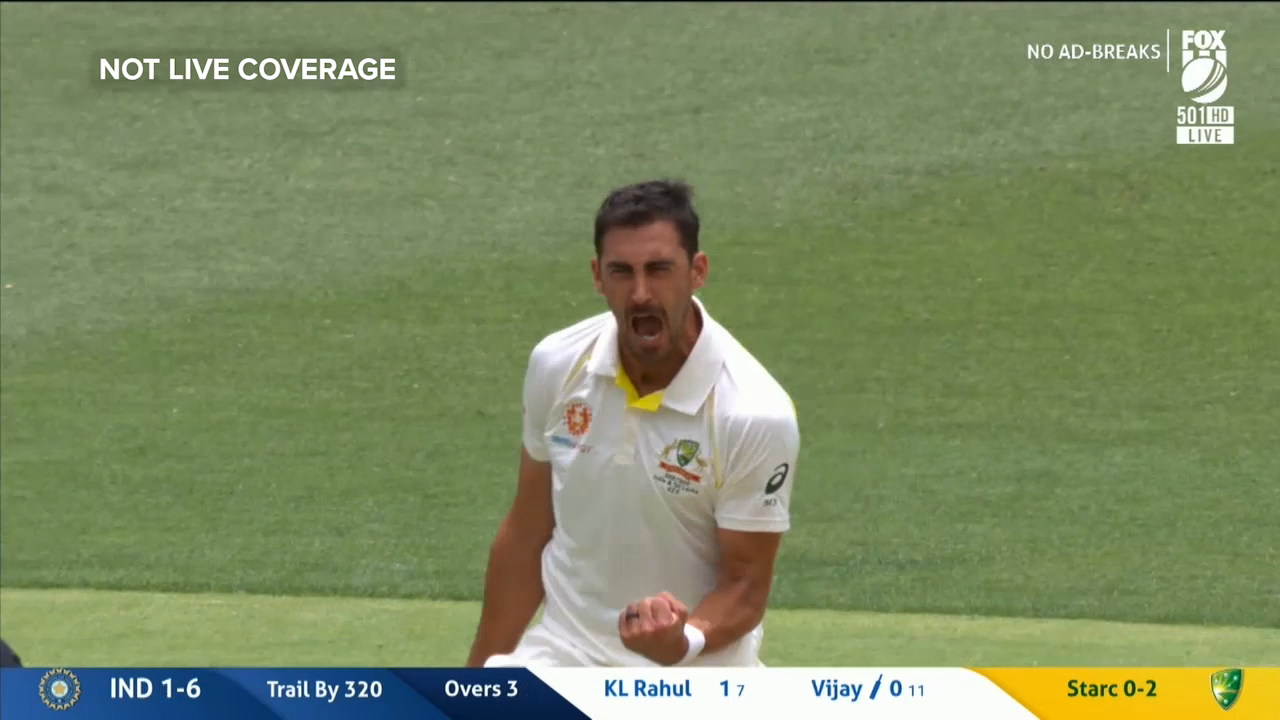 Starc strikes before lunch