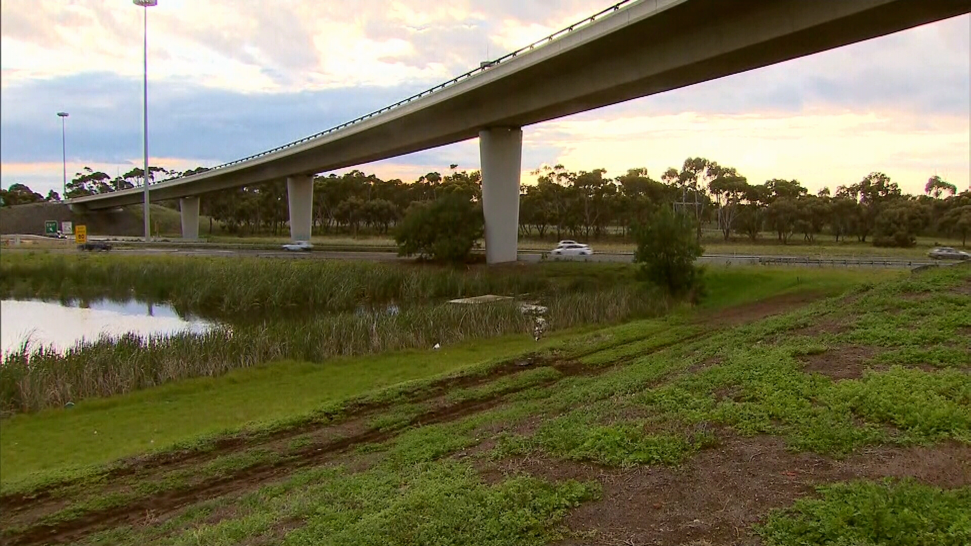 Two dead after car plunges off Melbourne overpass