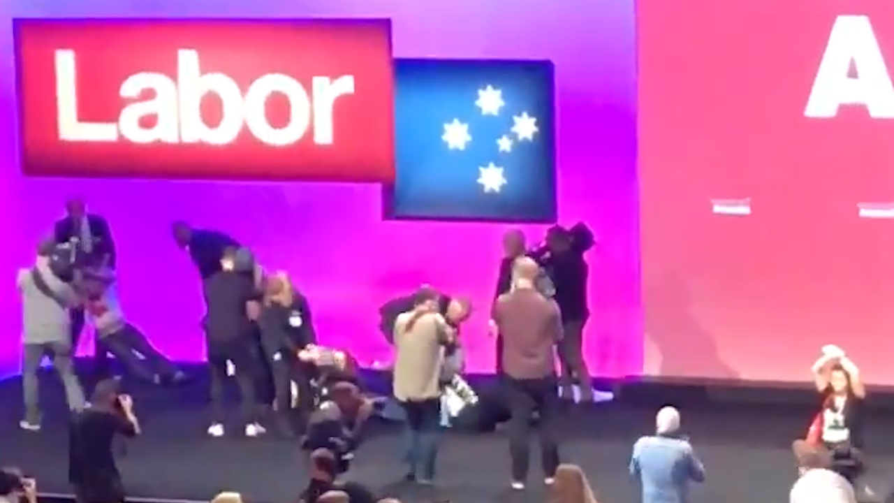Protestors disrupt ALP National Conference