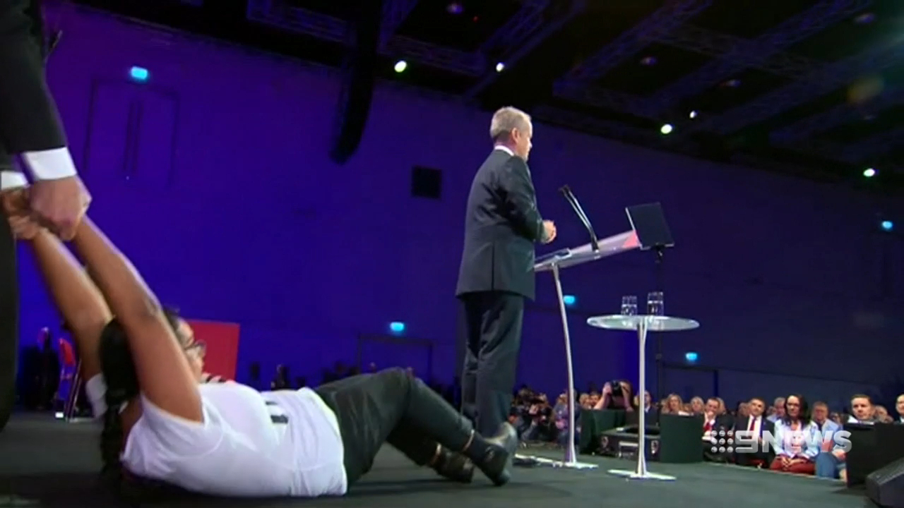 Protesters hijack Labor's national conference
