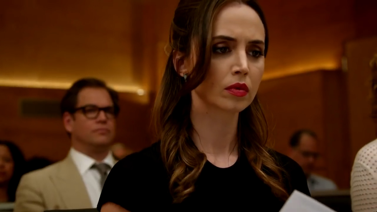 Michael Weatherly and Eliza Dushku on 'Bull'