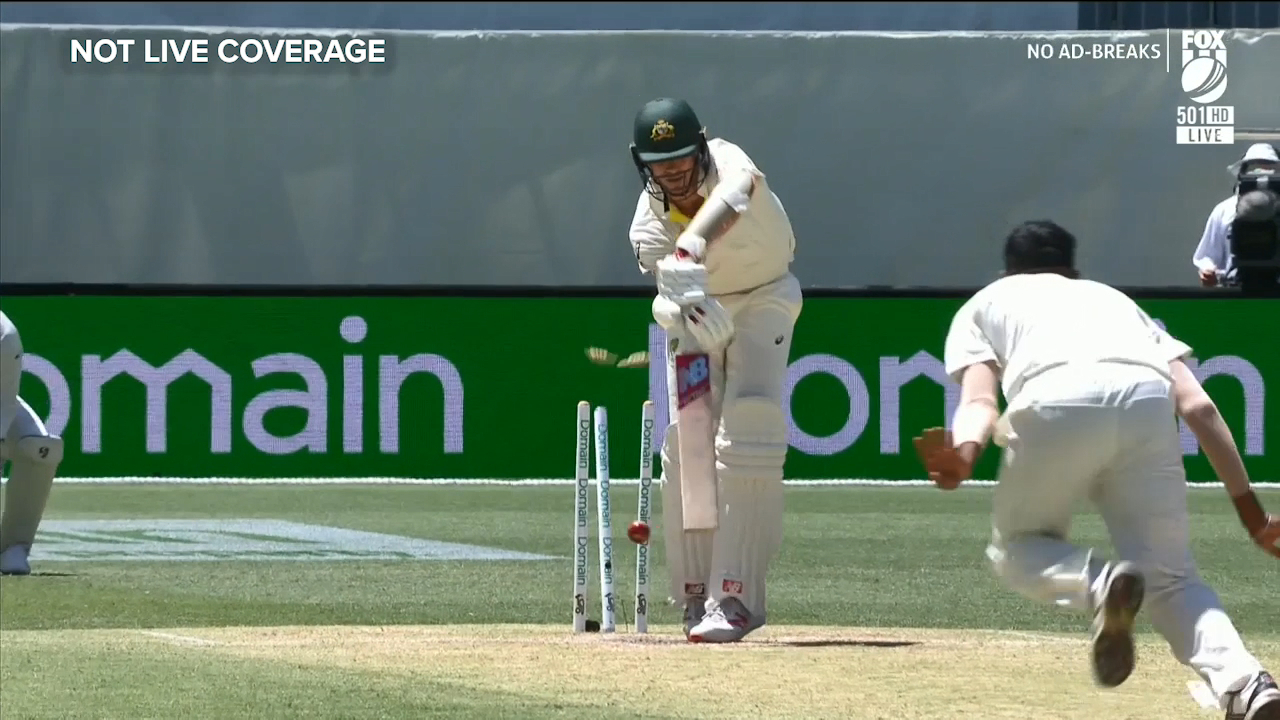 Cummins bowled by grubber