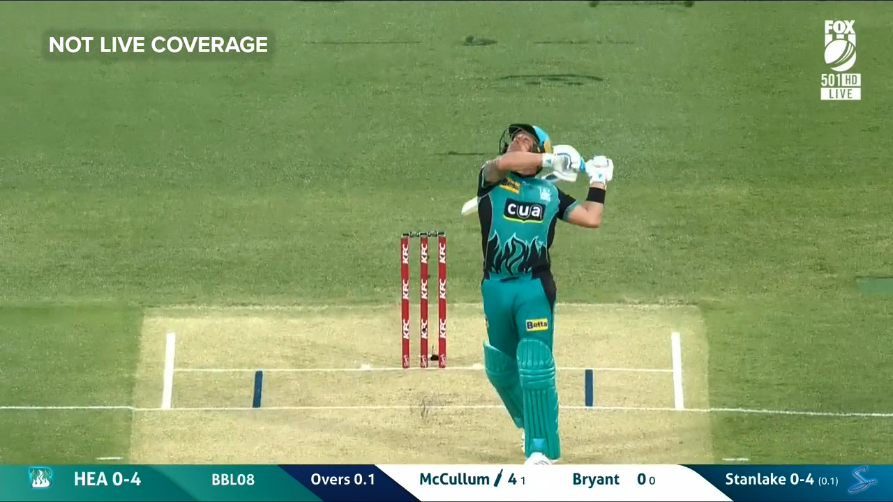 McCullum falls straight away