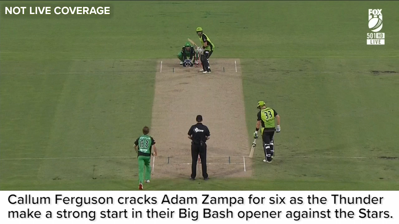 Ferguson cracks Zampa for six