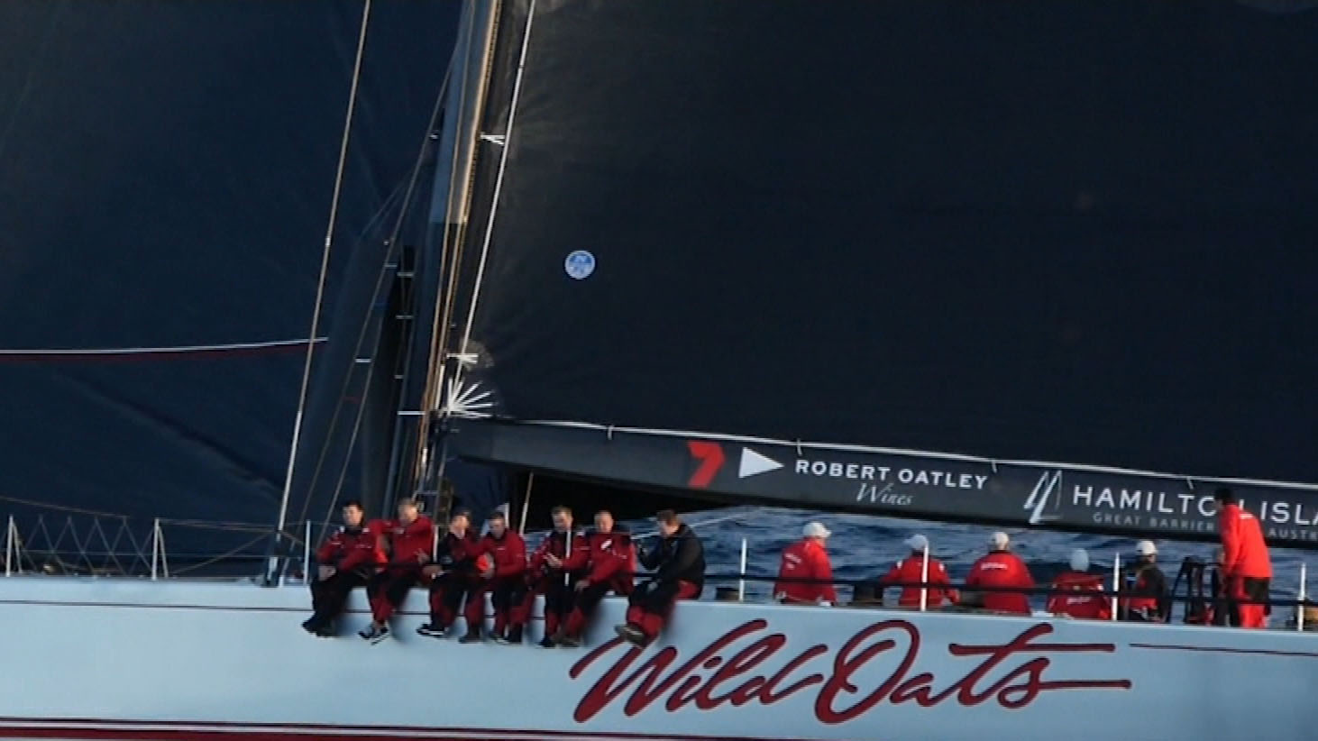 Wild Oats XI face stripped line honours