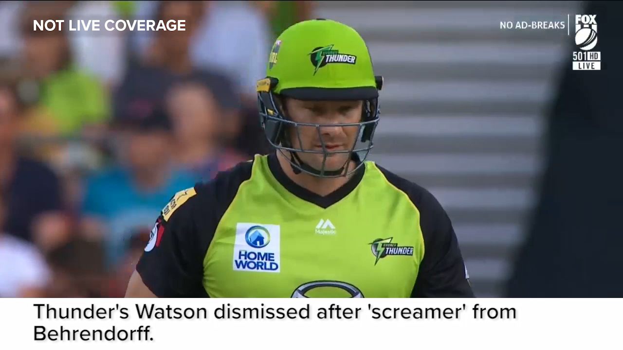 Watson out after 'screamer'