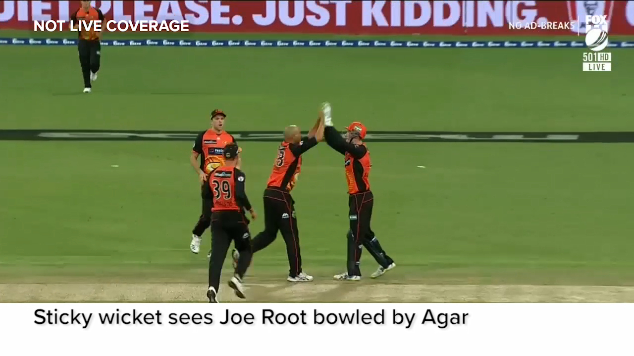 Root bowled after nutmeg