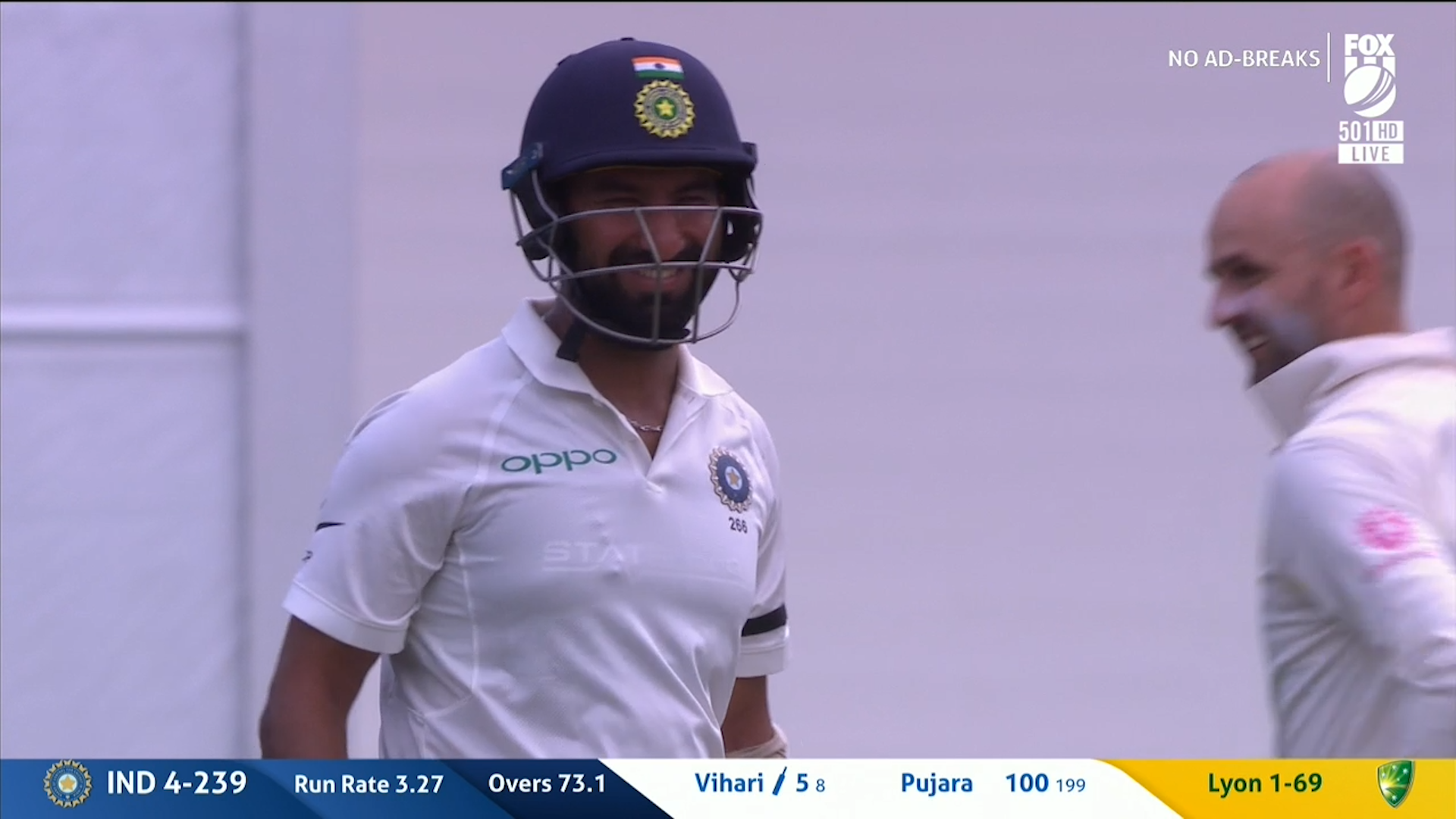 Lyon chirps Pujara after his century