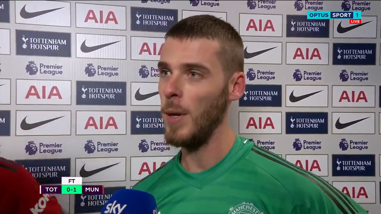 De Gea discusses amazing game