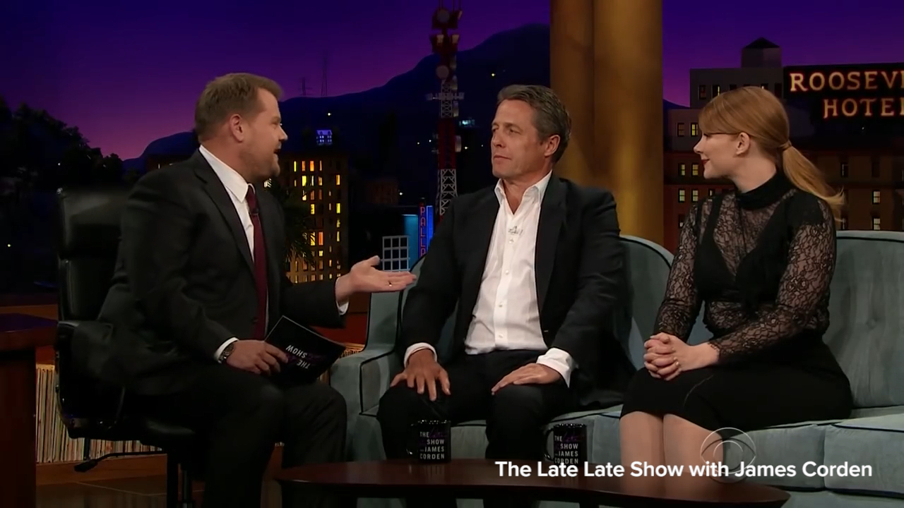 Hugh Grant says he often shares too much information