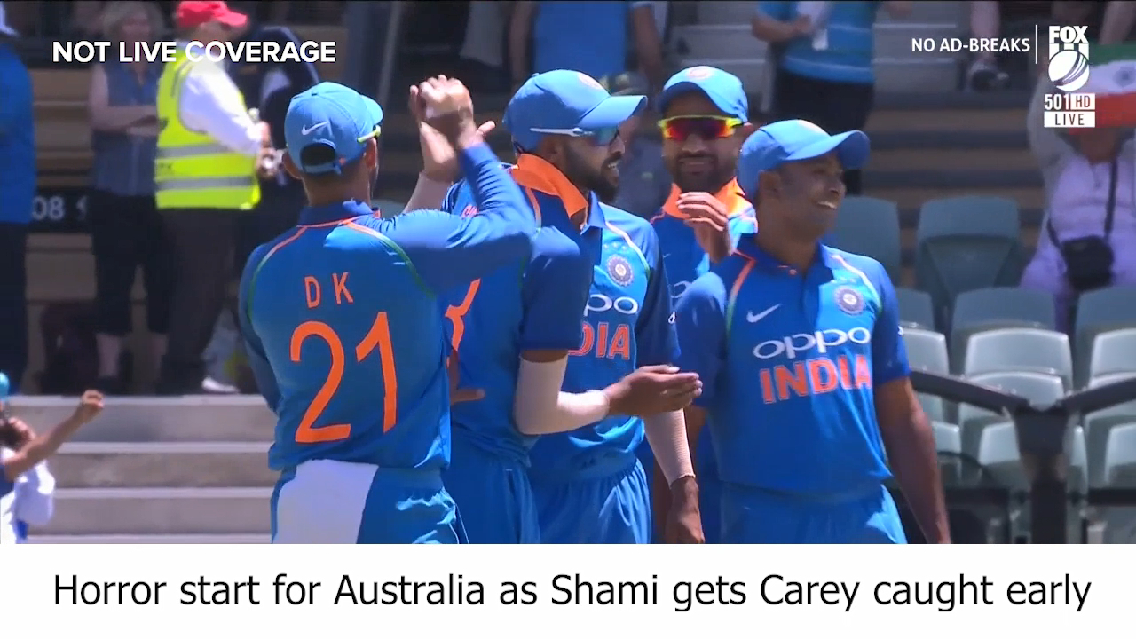 Shami gets Carey early