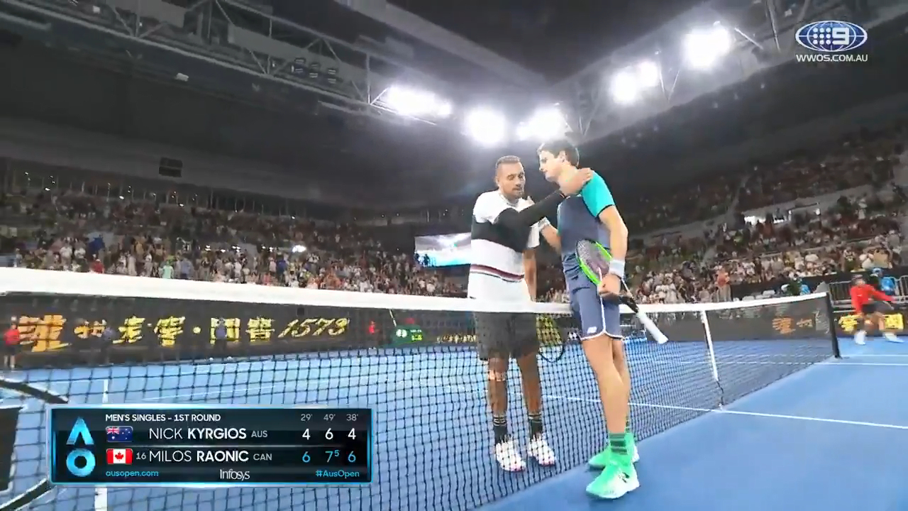 Roanic downs Kyrgios in straight sets