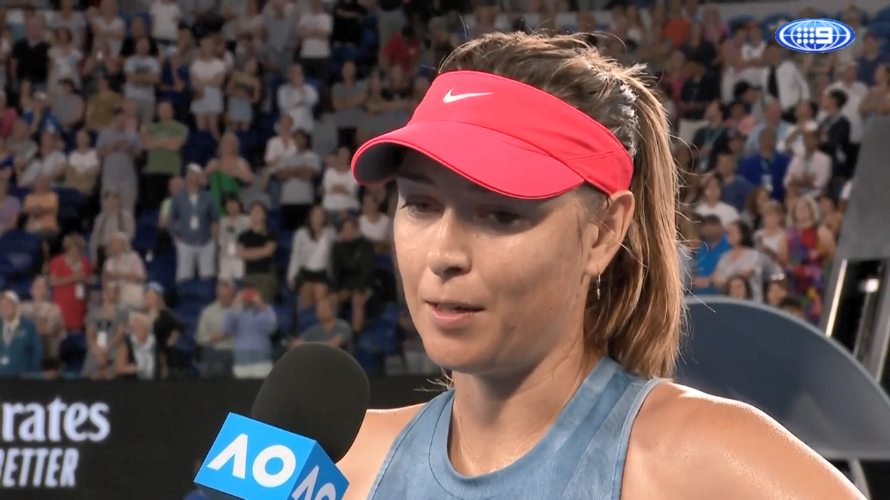Sharapova's praise for 'phenomenal' Barty